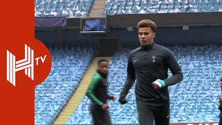 Dele Alli trains with protective cast as Spurs prepare for City