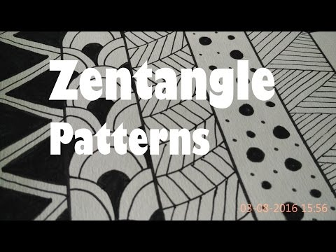 5 Easy Zentangle Patterns For Beginners, How To Draw Doodle Art