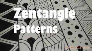 How To Draw Easy Zentangle Art Patterns For Beginners,Tutorial Doodle Drawing Step By Step 1-5
