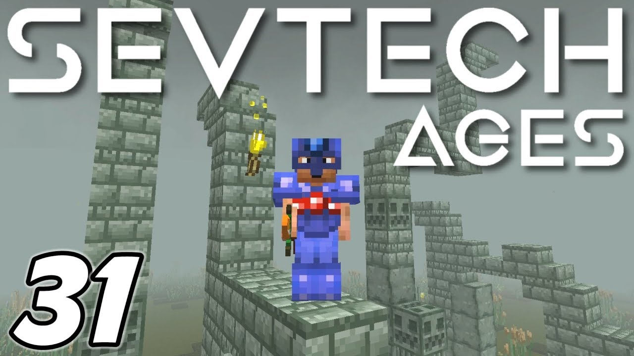 Minecraft - Ancient Ruins, Treasure and Mummies!! - Minecraft Sevtech: Ages  Ep 31