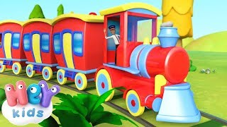 The Train Song for kids 🚂 Trains for children | HeyKids - nursery rhymes