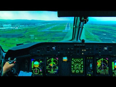 Landing Addis Ababa in Cockpit Q-400