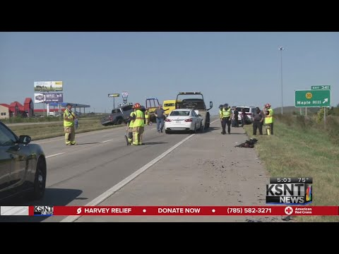 2 taken to hospital following crash on I-70 near Maple Hill