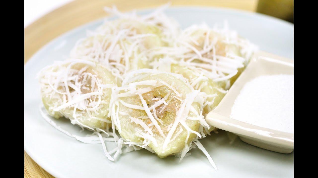 sticky rice in banana leaf thai dessert kow tom jim. Black Bedroom Furniture Sets. Home Design Ideas