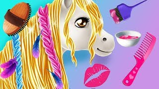 Princess Horse Club Pony Care - Fun Animal Horse Hair Color & Style Dress Up Makeover Pony Apps