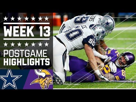 Cowboys vs. Vikings | NFL Week 13 Game Highlights