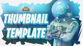 Fortnite: Battle Royale thumbnail template free to use. Ep.3 Free GFX!
