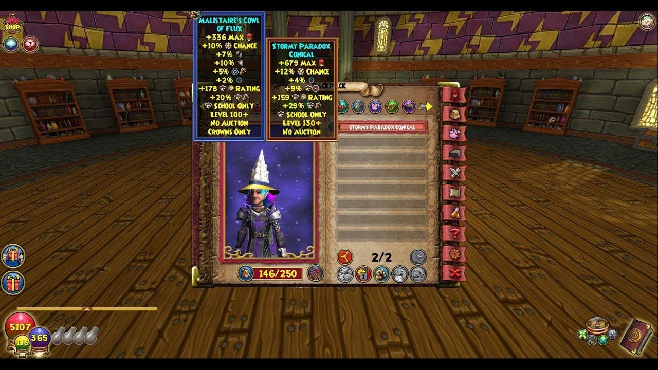 Wizard101 Storm gear update 130 lvl