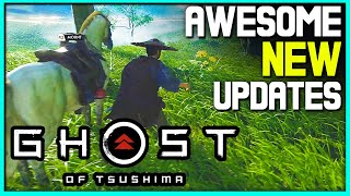 Awesome New Ghost of Tsushima Updates - Gameplay, Weapons + More