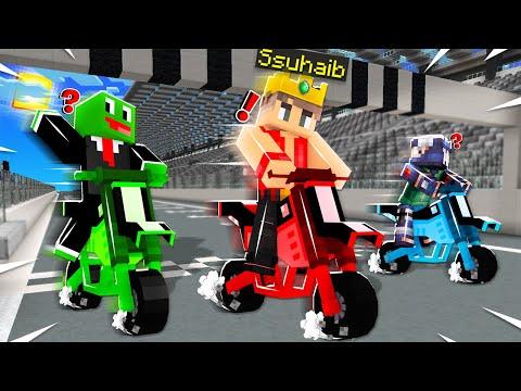 ماين كرافت سباق الدراجات النارية!🛵 (مع أوتاكو و رحومي)🔥 - Motorcycles Race