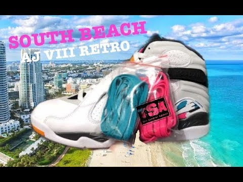e3456644b5dcb AIR JORDAN 8 VIII SOUTH BEACH RETRO SNEAKER - YouTube