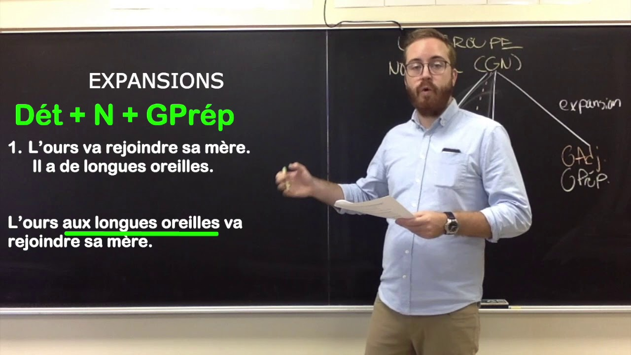 Groupe nominal (GN) et expansions - YouTube