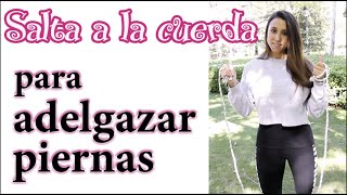 Cómo saltar la cuerda para adelgazar las piernas rápido | APERDERPESO.COM