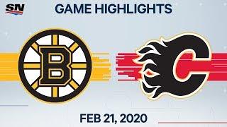 NHL Highlights   Bruins vs. Flames – Feb. 21, 2020