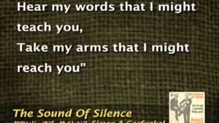 Sound of Silence HQ ♬ karaoke - Simon _ Garfunkel.flv