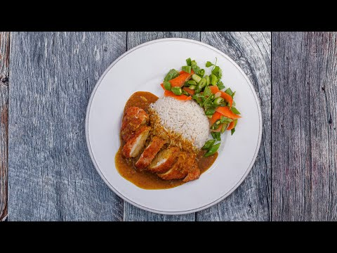 Authentic Chicken KATSU Curry Recipe-Japanese CURRY From Scratch EASY