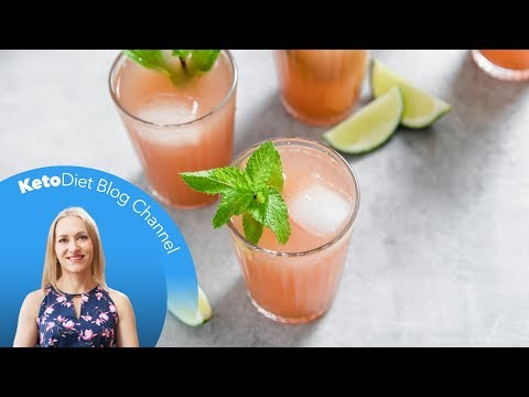 keto-diet:-low-carb-watermelon,-lime-&-mint-coolers