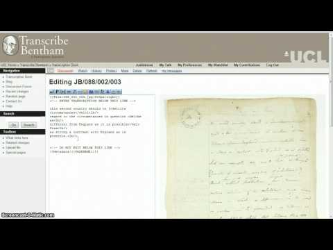 Transcribe Bentham tutorial