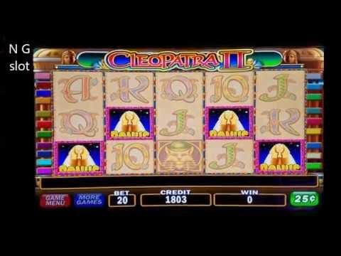 High Limit Cleopatra 2 Slot Machine Bonuses Win ???? NICE GAME. c25 Denomination - 동영상