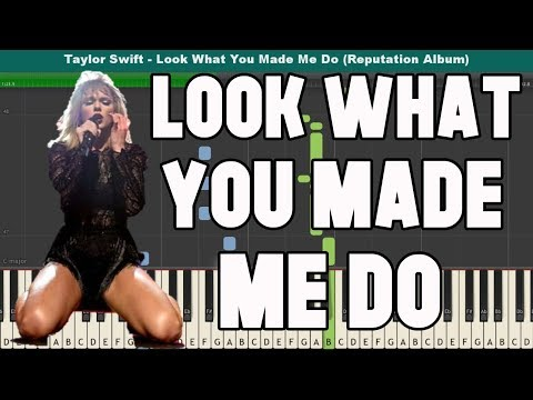 Look What You Made Me Do Piano Tutorial - Free Sheet Music (Taylor Swift)