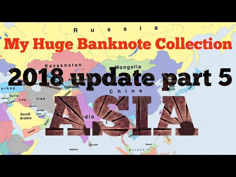 2018 world paper money banknote  collection update - Asia. Part 5.