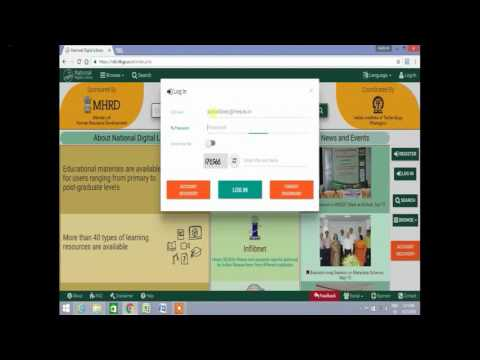 E- Learning module developed by Sanjay Munavalli and Paritosh PawarNational Digital Library Tutorial
