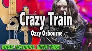 Ozzy Osbourne Crazy Train - BASS Tutorial With Tabs - Play Along.mp3