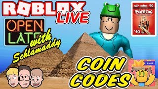 NEW PYRAMID PARADISE Unboxing Simulator | Coin Codes | Weekly Robux Giveaway | Roblox Live