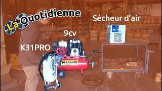 La quotidienne : Test client d'une Hydrogommeuse + Compresseur thermique 9cv + sécheur d'air