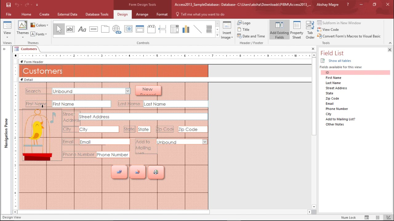 Download MS Access 2016 - Create Subforms