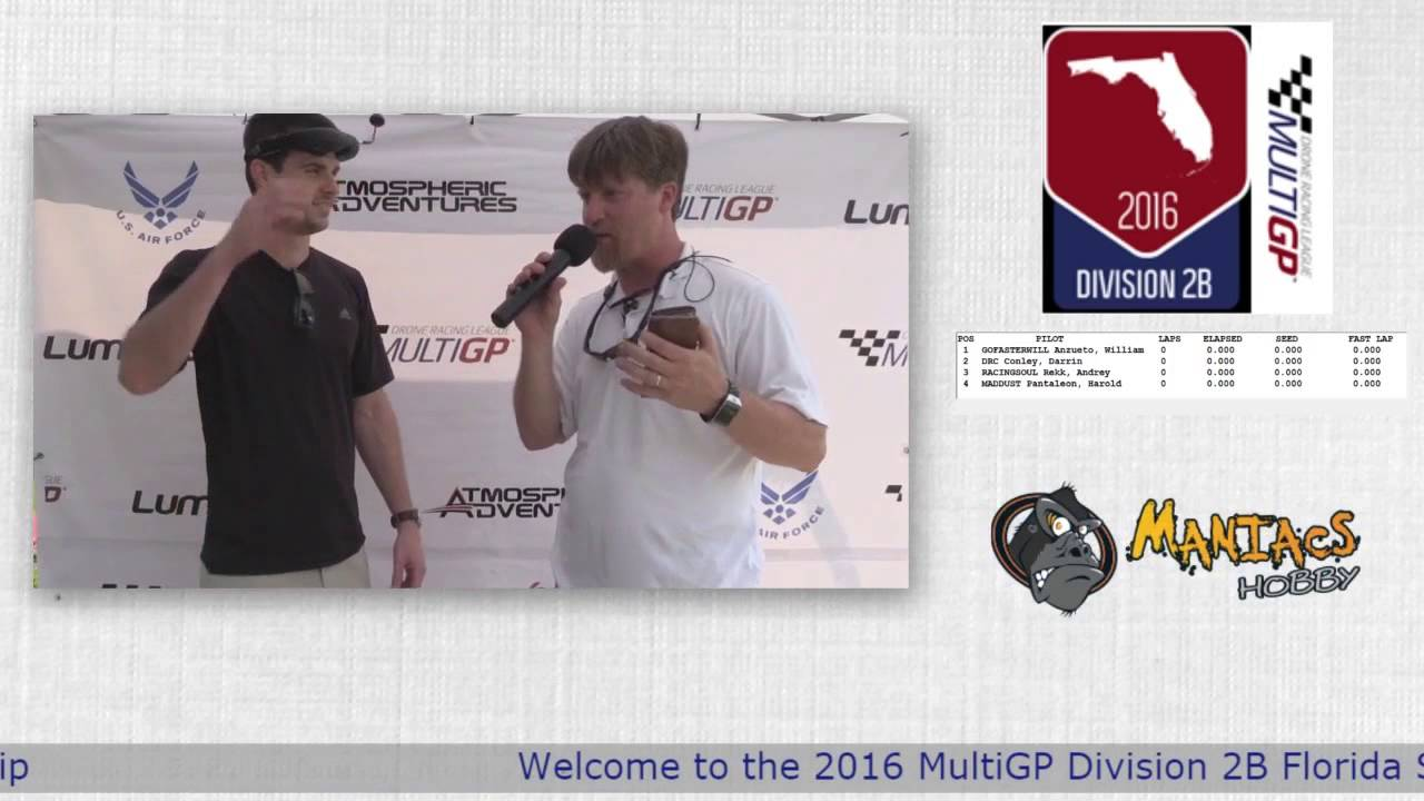 2016 MultiGP 2B Florida Finals Interview With New FPV Pilot Blake