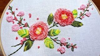 Floral Scene   Cup Flower Stitch