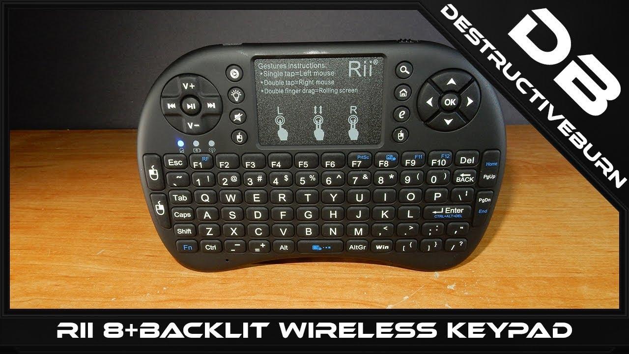 c6a2b6d6d80 Rii 8+ 2.4GHz Backlit Wireless Mini Handheld Remote Keypad - DestructiveBurn