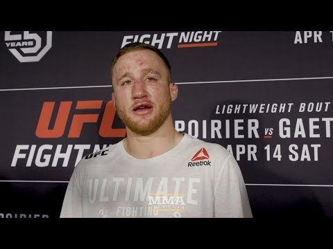 UFC on FOX 29: Justin Gaethje Post-Fight Media Scrum - MMA Fighting