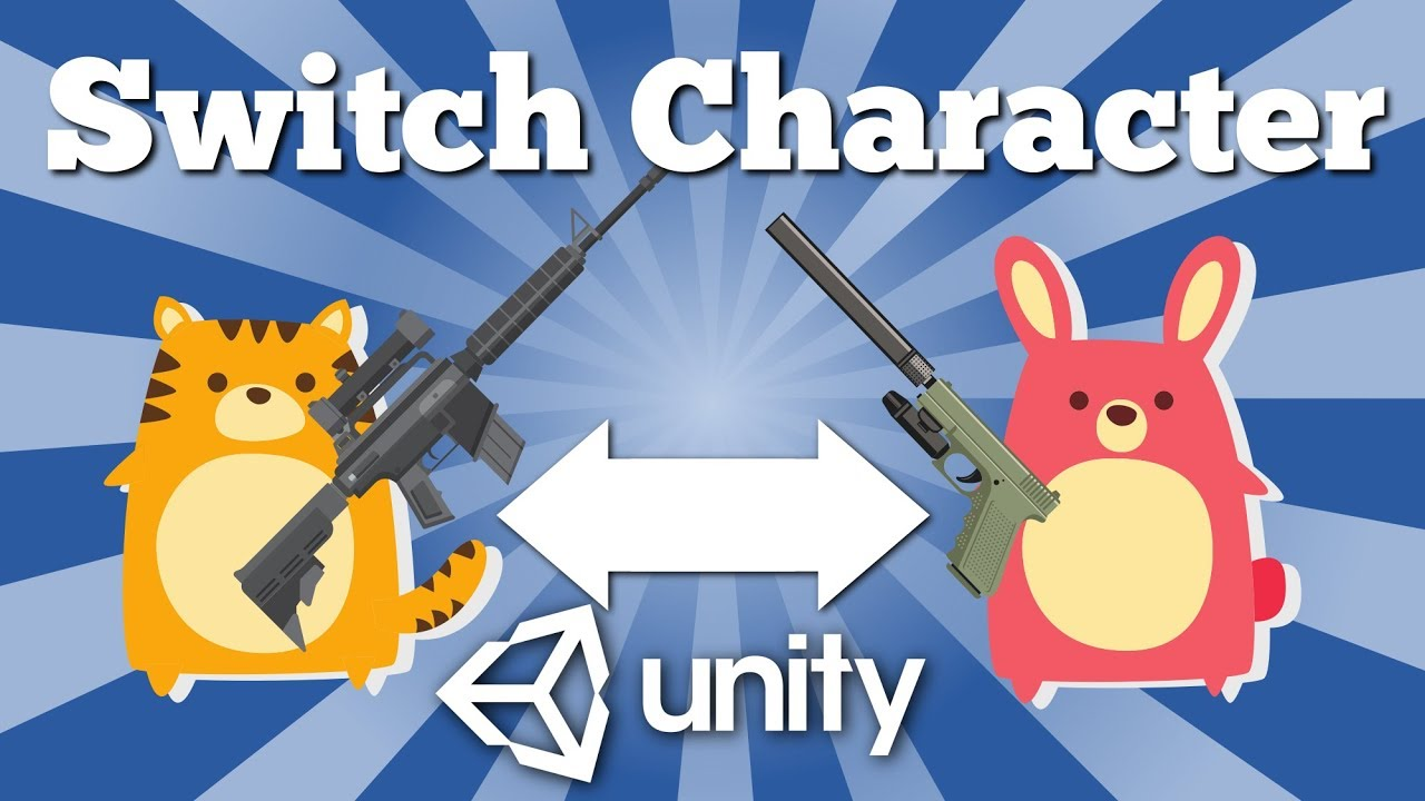 How to switch between two characters in Unity game? Quick tutorial