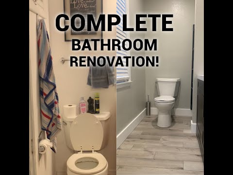 MAJOR BATHROOM RENOVATION ON FOSTER HOME!