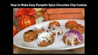 Pumpkin Chocolate Chip Cake Mix Cookies