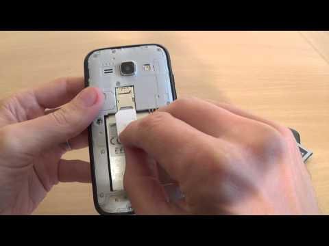 Samsung Galaxy J1 J100H - How to put sim card and memory card