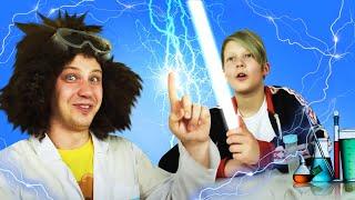 Видео уроки ФИЗИКИ - Как приручить Молнию? Катушка ТЕСЛА! – Научное шоу. Эксперименты и Опыты дома.