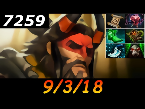 Dota 2 Beastmaster 7259 MMR 9/3/18 (Kills/Deaths/Assists) Ranked Full Gameplay