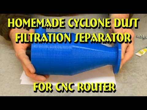 Homemade Cyclone Dust Filtration Separator for CNC Router