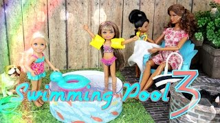 DIY - How to Make: Doll Swimming Pool 3:   Doll Floaties | Doll Fire Pit - Handmade - Doll - Crafts