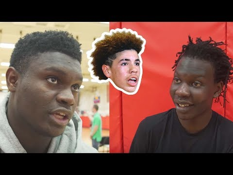What Do Zion Williamson & Bol Bol Think About LaMelo Being HOMESCHOOLED? Team USA REACTS!