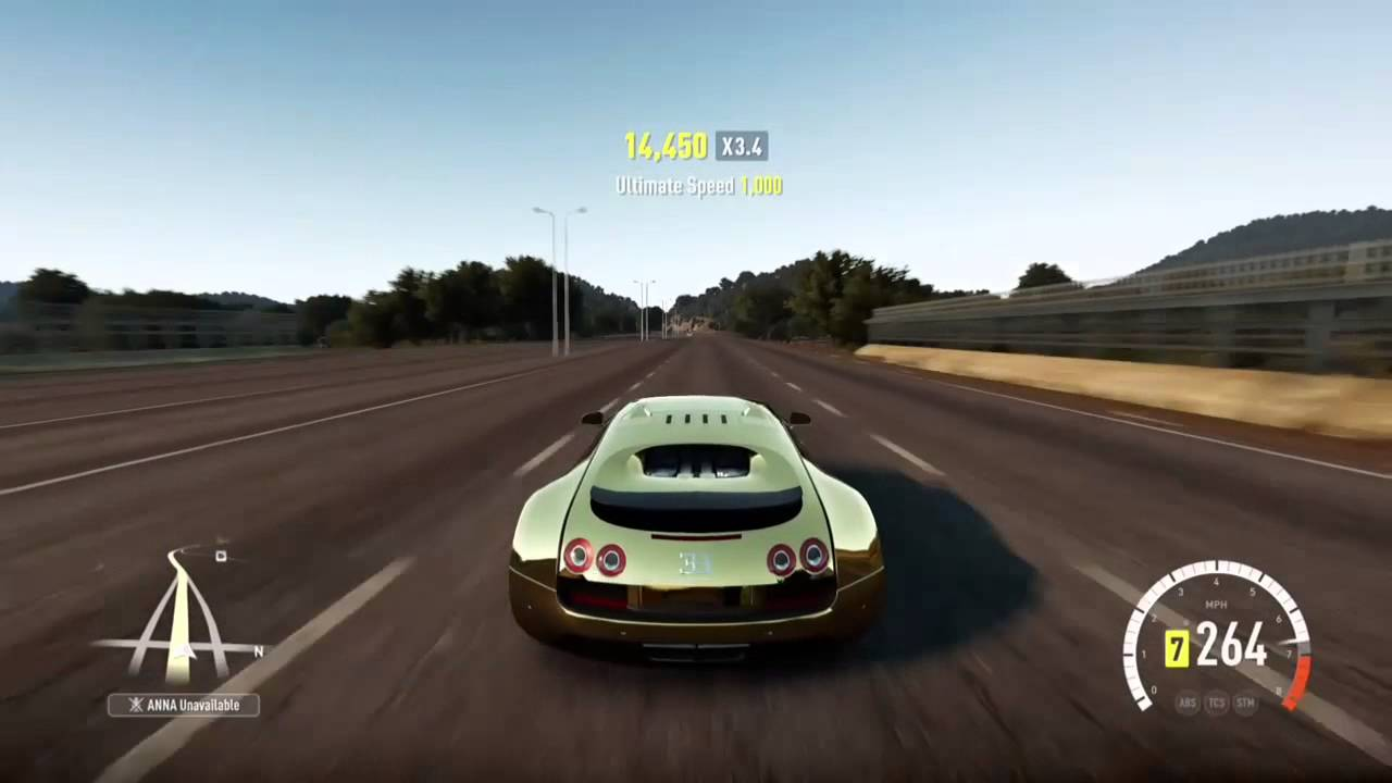 Perfect Forza Horizon 2: Gold Bugatti Veyron   YouTube