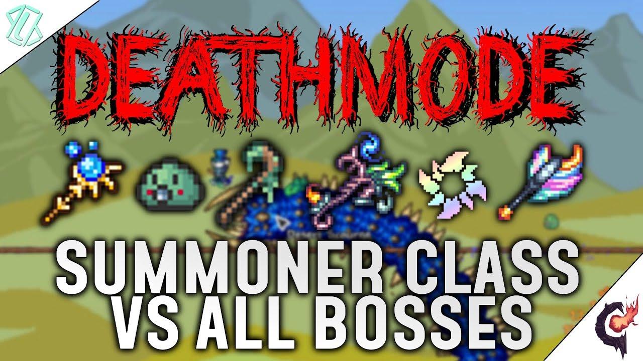Terraria Calamity Mod  All Bosses as Summoner Deathmode