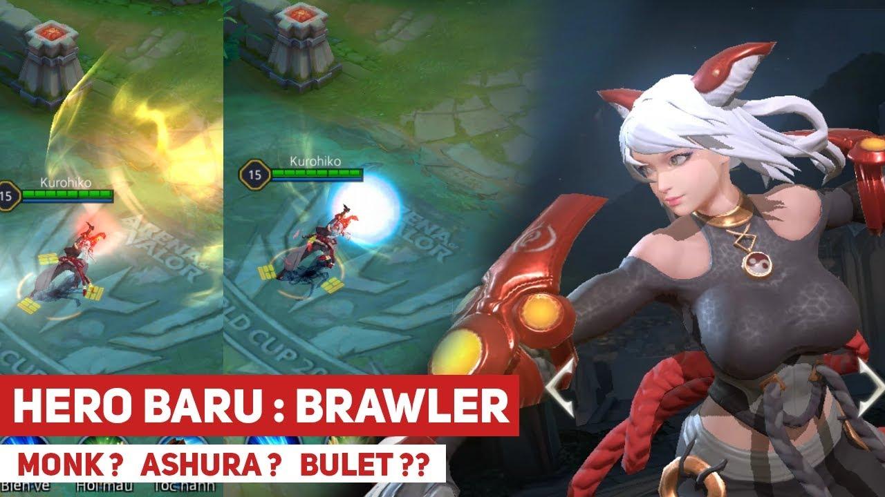 Brawler - Hero Baru Qi AOV ini Terinspirasi dari Kimi H*me - AOV Test Server