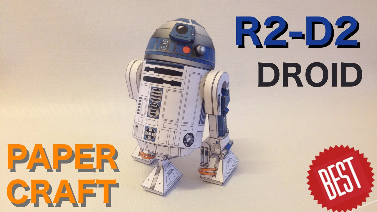 How To Make Best Free Paper R2 D2 Papercraft Youtube