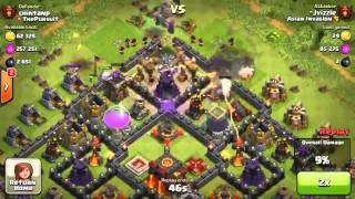clash of clans asian invasion : raid of jvizzle trophie push CHAMP :)