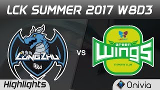 LZ vs JAG Highlights Game 3 LCK SUMMER 2017 Longzhu vs Jin Air Green Wings by Onivia thumbnail