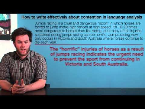 VCE English - Contention (Language Analysis)